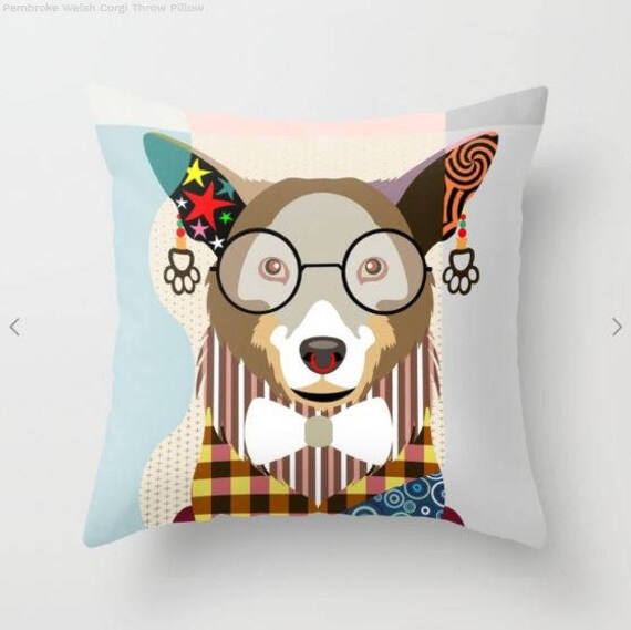 Corgi Pillow, Corgi Gift, Corgi  Lover Gifts, Corgi Print, Corgi Decor, Animal Pillow, Pet Gifts, Pet Pillow, Dog Lovers Gift