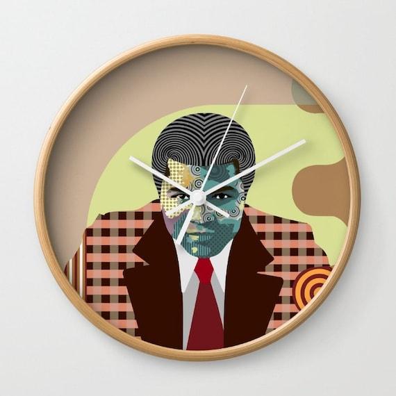 Muhammad Ali Art Wall Clock, Muhammad Ali Home decor, Muhammad Ali Gift, Boxing Legend Decor, African American Wall Art, Cassius Clay