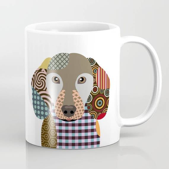 Dachshund Mug, Dog Mug, Dachshund Gifts, Animal Mug, Pet Gifts, Pet Mug, Dog Lover Gift, Dog Lover Mug, Dog Lover, Animal Print