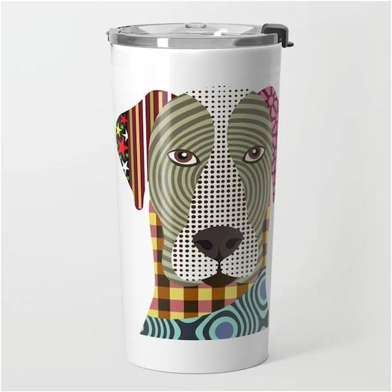 Great Dane Metal Travel Mug, Dog Stainless Steel Cup