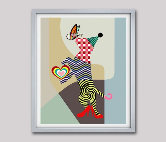 Funny Dog Art, Dog Lover Gift, Dog Love, Dog Pop Art, Dog Poster, Dog Art Print Picture, Funny Animal Lover Gift