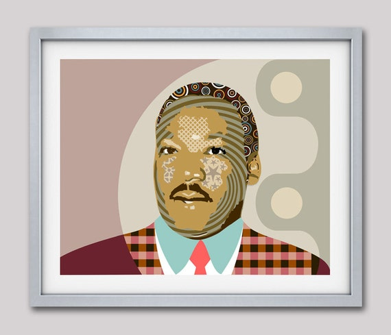 Martin Luther King Jr, Human Rights Activism Civil Rights-Black Nationalism Unity African American, Celebrity Portraits
