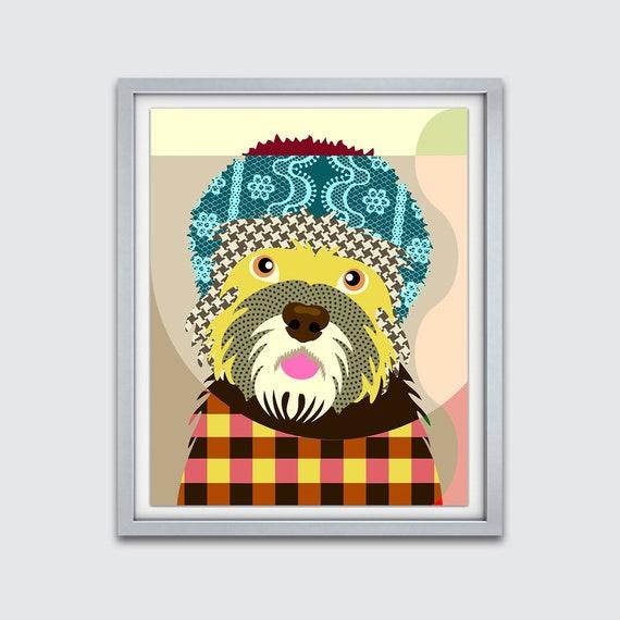 Dandie Dinmont Terrier Print, Dandie Dinmont Terrier Art, Dandie Dinmont Decor,  Dandie Dinmont  Poster, Dinmont Terrier Gift, Dog Painting