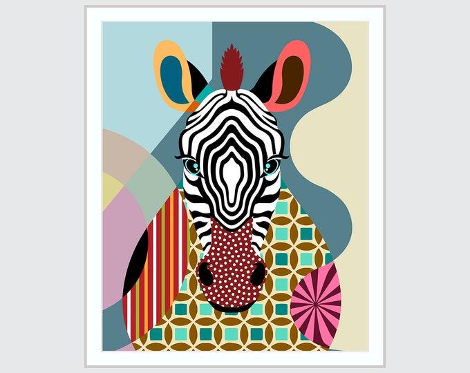 Zebra Wall Decor Painting, Animal Lover Gift