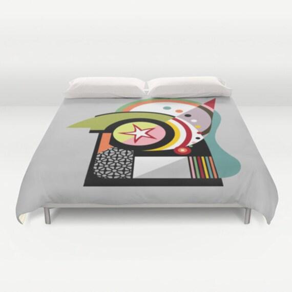 Colourful Beddings,Unique Bedding, Cute Bedding Duvet Cover, Queen Duvet Cover, Full Duvet Cover, King Duvet Cover, Bedroom Decor