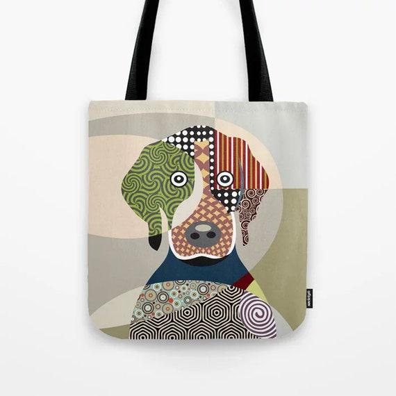 Beagle Tote, Dog Lover Gift Printed Animal Canvas Bag