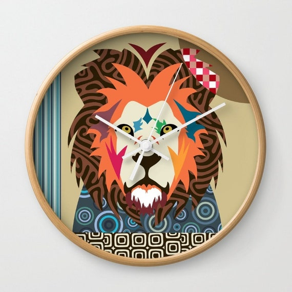Lion Wall Clock, Unique Animal  Wall Clock, Wall Clock Cecil The  Lion Home Decor, Decorative Clock