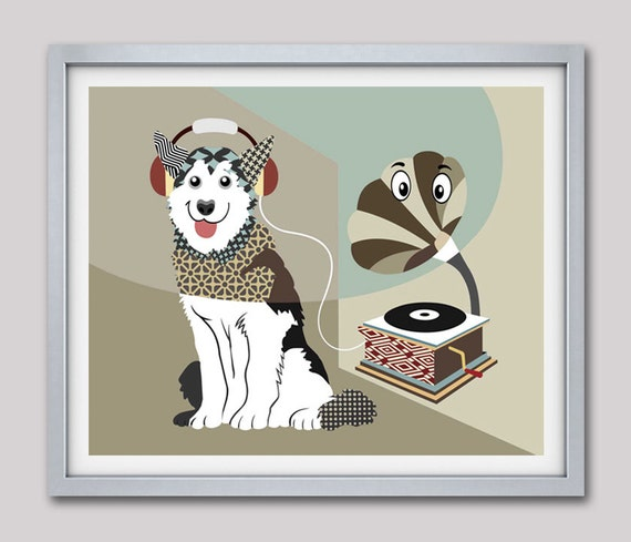 Siberian Husky Art, Siberian Husky Dog, Husky Art, Husky Dog, Siberian Husky, Funny Dog, Dog Pop Art, Dog Poster