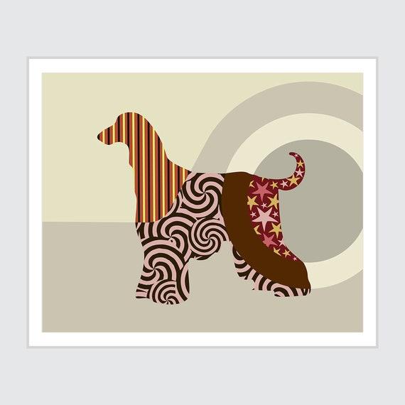 Afghan Hound Art, Abstract Dog Print Pet Poster