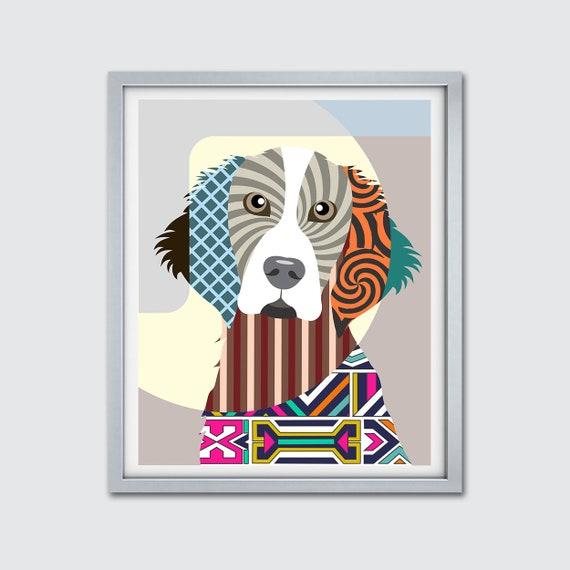 Welsh Springer Spaniel Dog Art Print, Welshie Doggy Home Decor