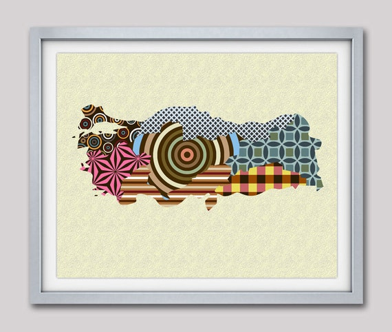 Turkey Map Print Poster, Ankara Print Painting, Istanbul Map Decor, Middle Eastern Decor, Travel Gifts, Travel Map
