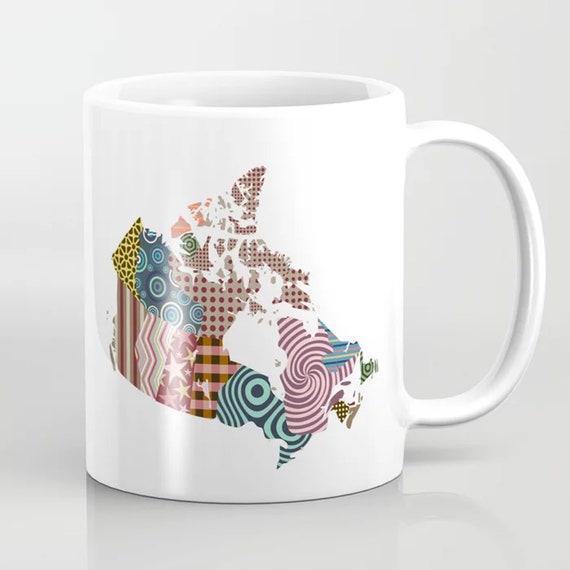 Canada Mug, Canadian Gift Map Ceramic Coffee Cup