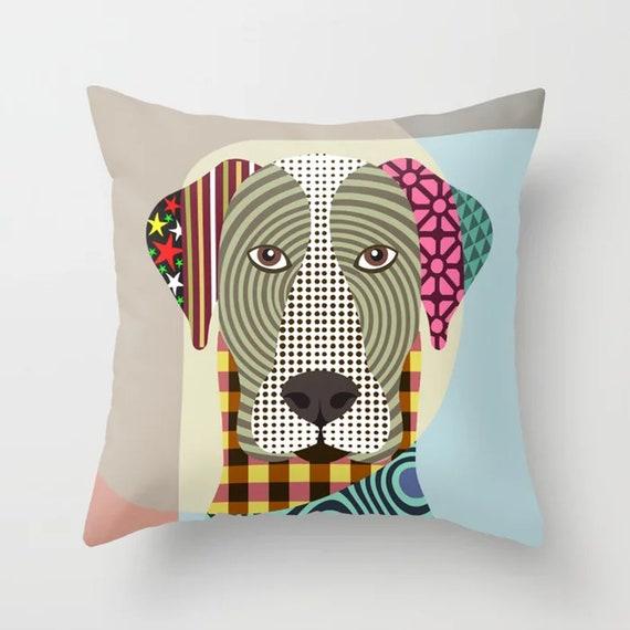 Great Dane Pillow, Pop Art Dog Cushion Pet