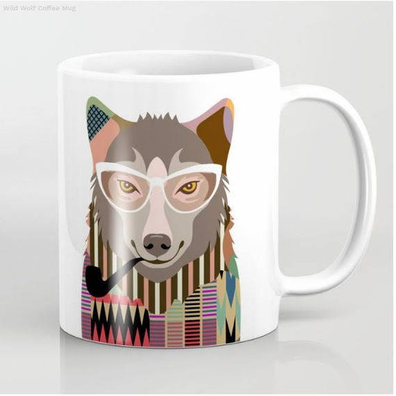 Funny Wolf Mug, Wolf Cup Gift