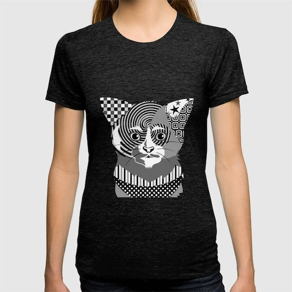 Cat T Shirt, Cat Clothing, Cat Print,  Cat Shirt, Animal T Shirt, Cat Lover Shirt, Cat Lover Gifts