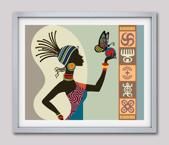 African Woman Art, Afrocentric Art, Afrocentric Decor, African Print, African Art, African American Art, African Gifts