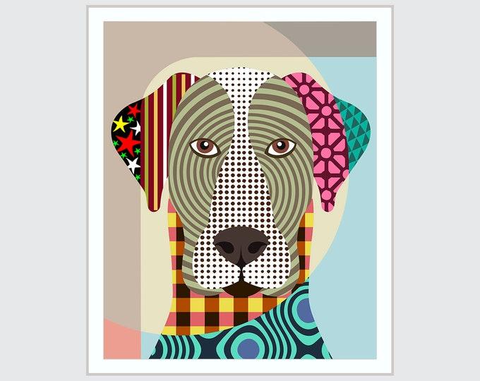 Great Dane Art Giant Dog Pet Portrait Poster
