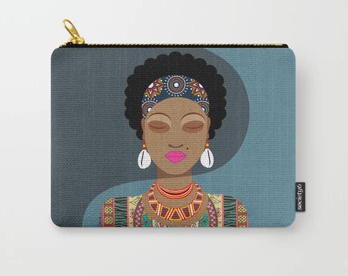 Black Girl Purse, Ankara Wallet Diva Afro Hair
