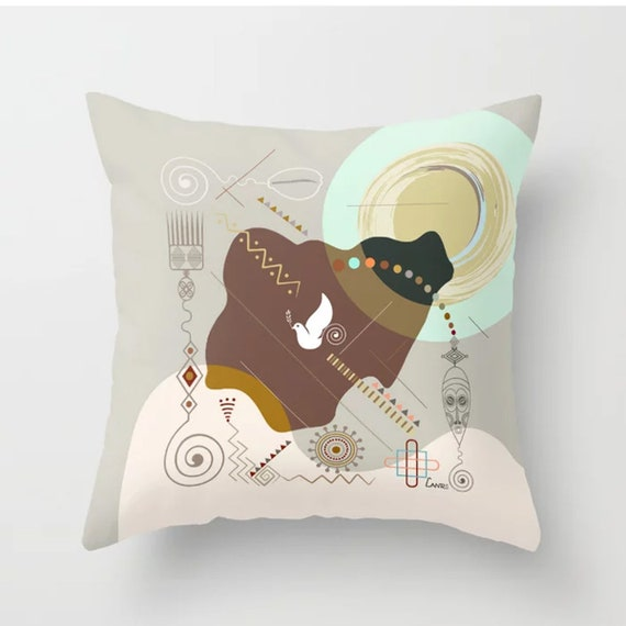 Nigerian Decor, Nigerian Print Pillow, Nigerian Map, Nigerian Gift, African Gift, Lagos Nigeria, African Design, African Decor For Homes
