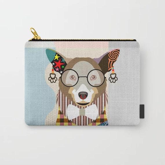 Corgi Pouch, PWC Pem Dog Zipper Purse Printed Wallet