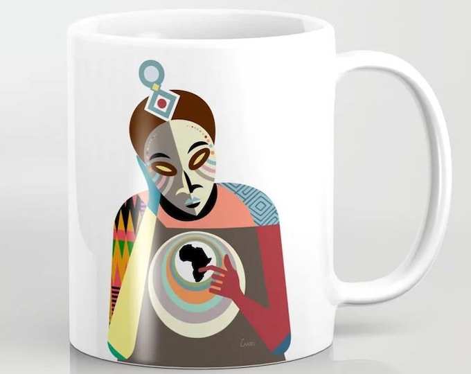 African Coffee Mug, Black History Afrocentric Gift
