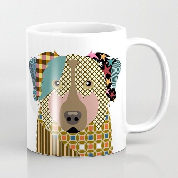 Australian Shepherd Mug, Aussie Gifts, Aussie Mug, Animal Mug, Pet Gifts, Pet Mug, Dog Lovers Gift, Dog Lover Mug, Dog Lover, Animal Print