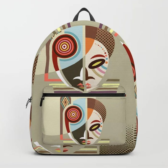 Afrocentric Backpack, African Bag Ethnic Mask