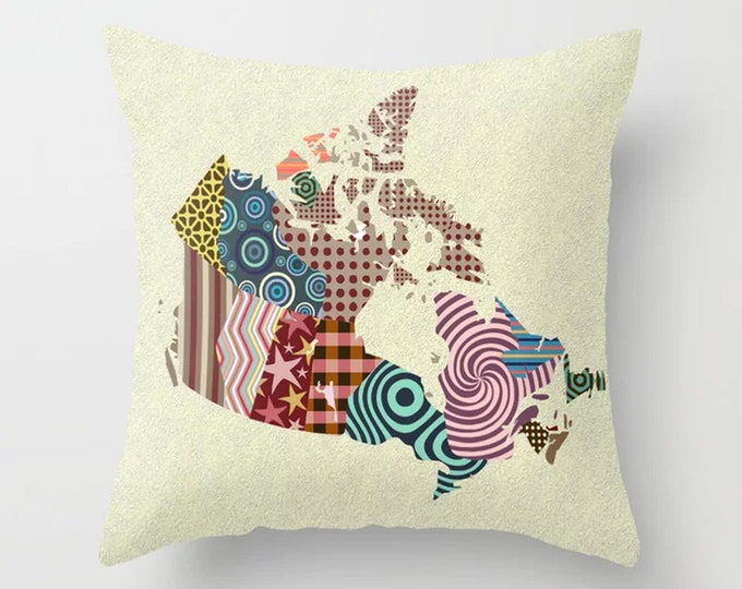 Canada Pillow, City Map Couch Cushion Gift