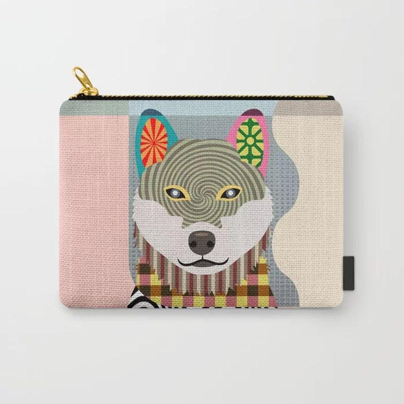 Shiba Inu Pouch Shibe Dog Zipper Pouch Coin Purse | Etsy