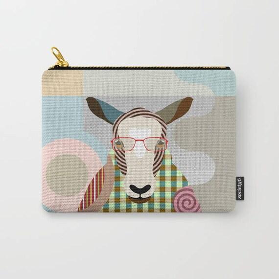 Sheep Coin Purse, Sheep Pouch, Sheep Wallet, Sheep Gifts,  Zipper Bag Purse, Sheep Zipper Pouch, Sheep Lovers Gift, Sheep Purse