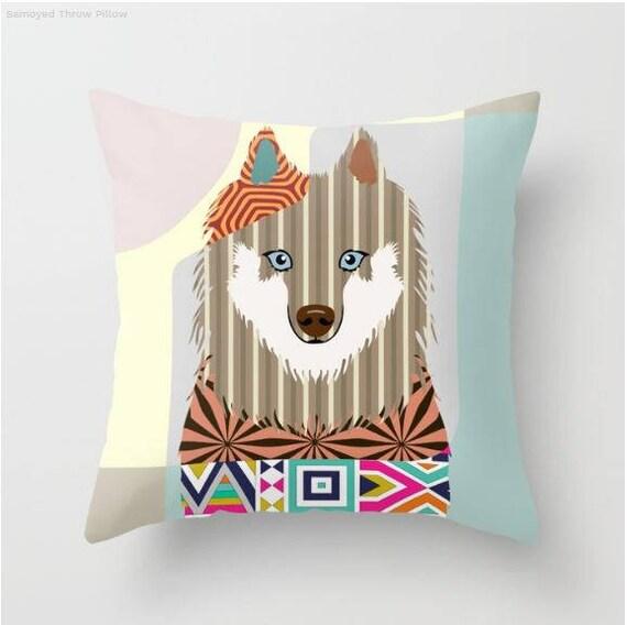 Samoyed Pillow, Samoyed Gift, Samoyed Print, Animal Pillow, Pet Gifts, Pet Pillow, Dog Lover Gift, Animal Print