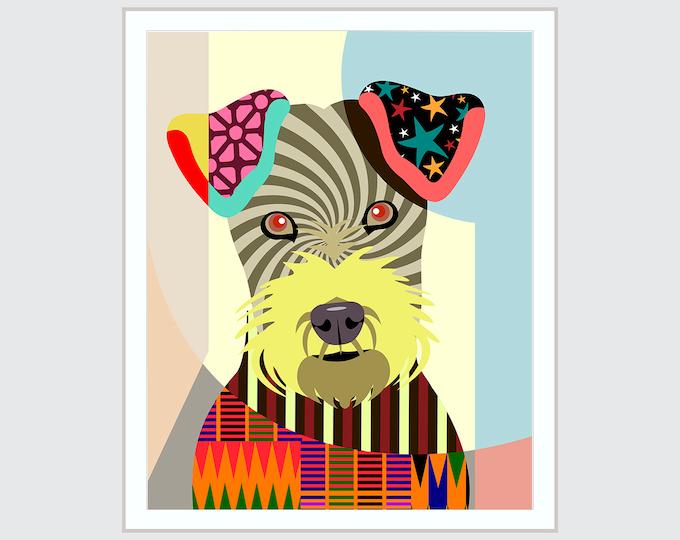 Irish Terrier Print, Dog Puppy Painting