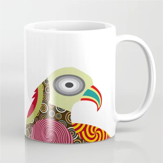 Bird Mug, American Eagle Colorful Coffee Cup Gift
