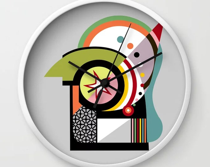 Geometric Wall Clock, Bauhaus Design Home Decor