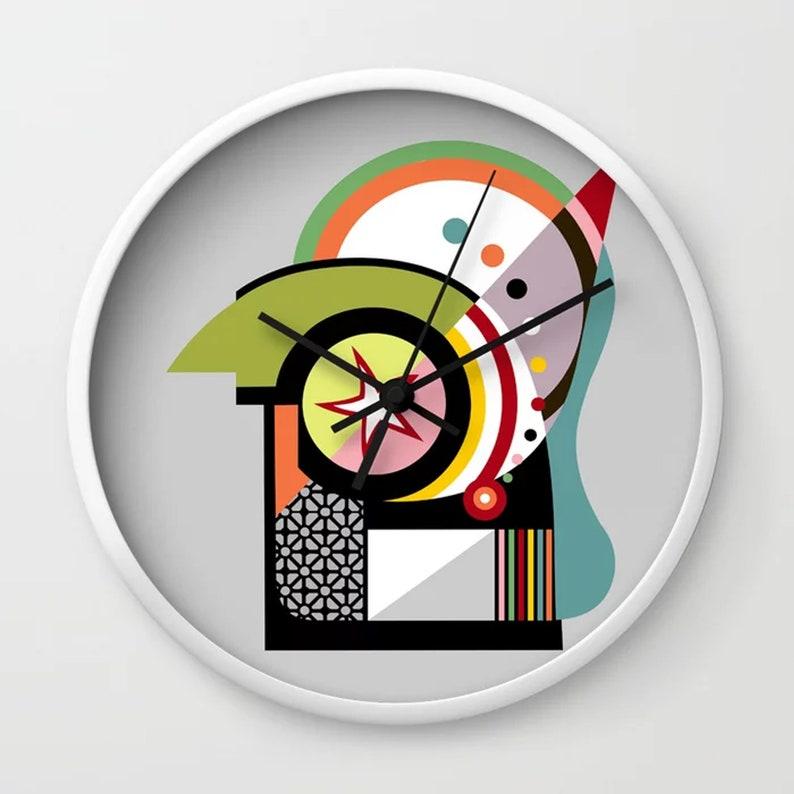 Geometric Wall Clock Bauhaus Design Home Decor image 0