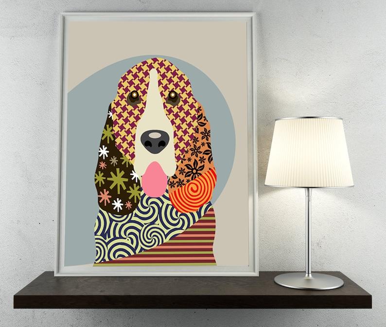 Basset Hound Art Dog Lover Gift Pet Poster Animal Decor
