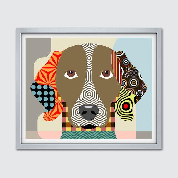 Weimaraner Wall Art, Weim Gift Pet Portrait