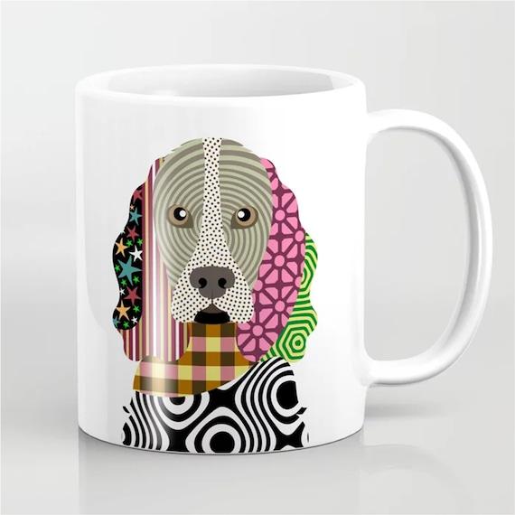 Cocker Spaniel Mug, Dog Coffee Cup Puppy Portrait Gift
