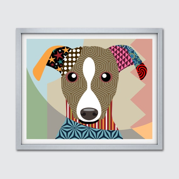 Whippet Artwork, Snap dog Pop Art