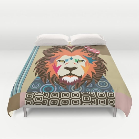 Lion Bedding, Cute Animal Duvet Cover, Queen Duvet Cover, Full Duvet Cover, King Duvet Cover