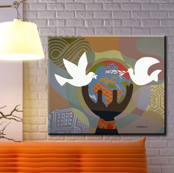 World Peace Art, Original Acrylic Painting