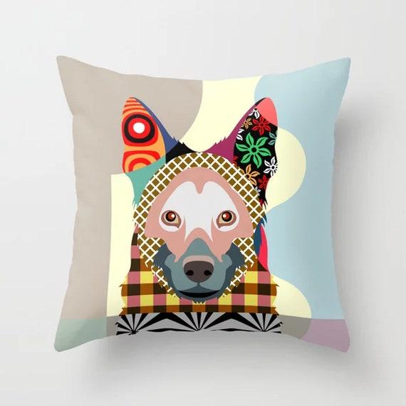 German Shepherd Pillow, Alsatian Dog Pet Cushion