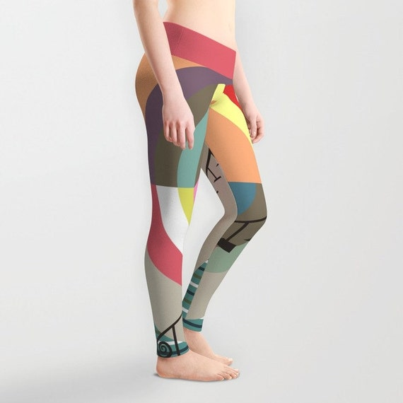 Printed Colourful Leggings, Cute Leggings, Womens Leggings, Active Wear, Yoga Leggings, Workout Leggings