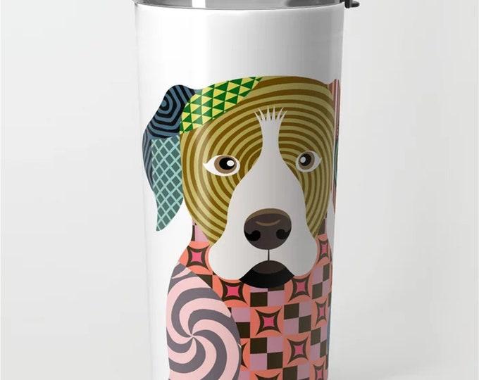 Rottweiler Tumbler, Rott Rottie Dog Stainless Steel Metal Mug