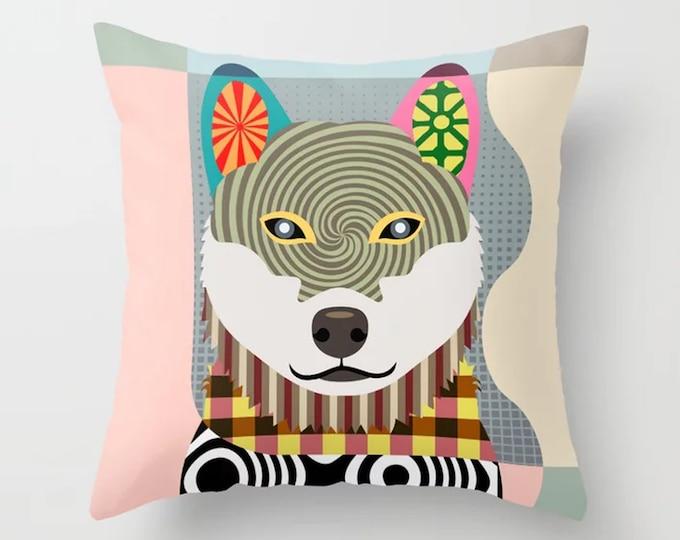 Shiba Inu Pillow, Shibe Dog Cushion Cute Puppy Print