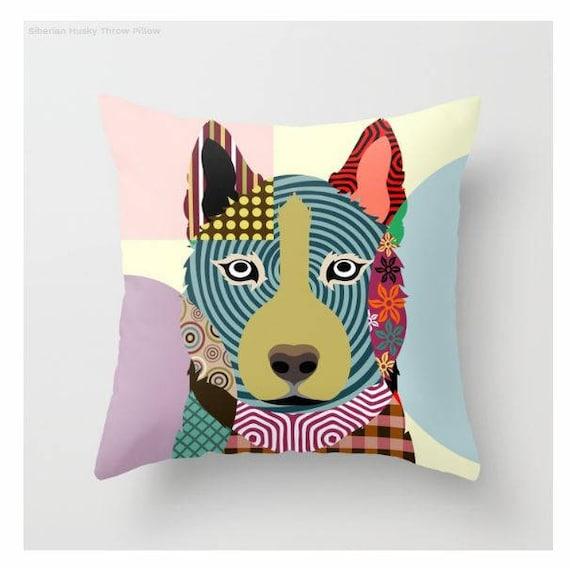 Siberian Husky Pillow, Siberian Husky Gift, Husky Lovers Gifts, Husky Pillow, Husky Decor, Animal Pillow, Pet Gifts, Pet Pillow