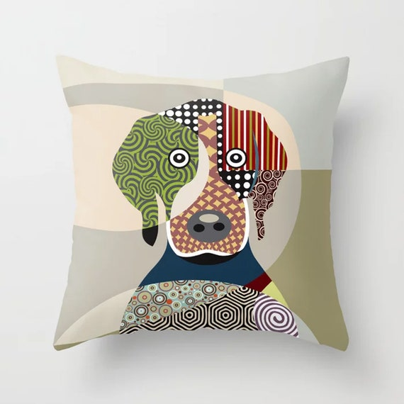 Beagle Pillow, Beagle Gift, Dog Lover Gift, Dog Lover Pillow, Beagle Throw Pillow Cover