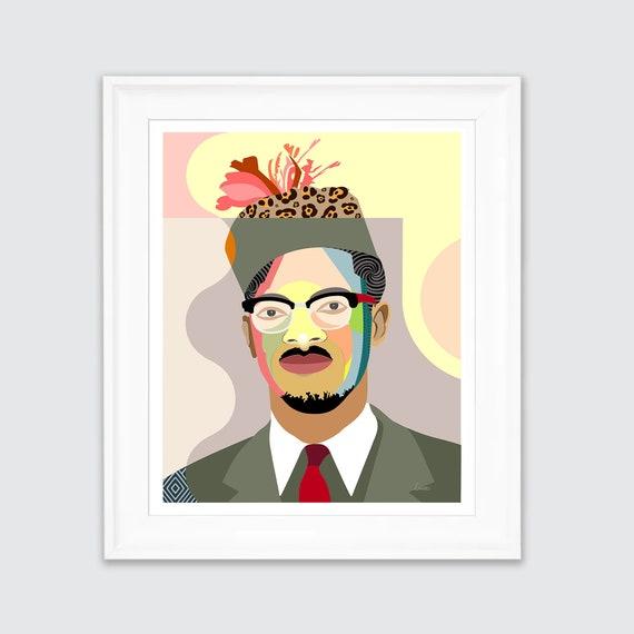 Patrice Lumumba, DRC Art Congolese African Portrait Black Leaders Print