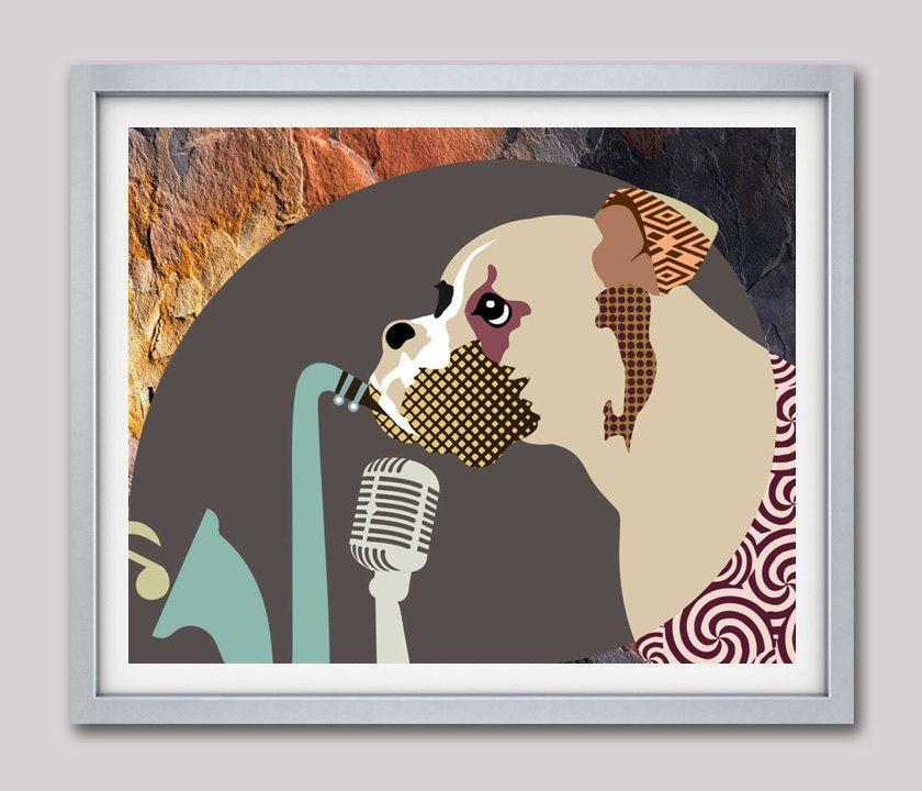 Boxer Dog Art Print, Boxer Dog Gifts, Boxer Dog Illustration, Dog ...