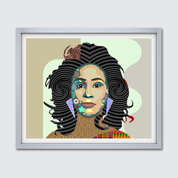 Whitney Houston Wall Art, Pop Art Celebrity Poster